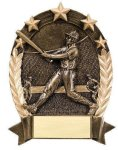 5 Star Oval -Baseball Male 5 Star Oval Resin Trophy Awards