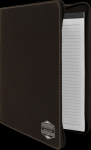 Leatherette Portfolio with Zipper -Black/Silver Achievement Awards