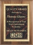 Genuine Walnut Plaque Achievement Awards