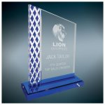 Blue Diamond Ice Unite Acryilc Achievement Awards