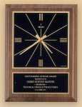 American Walnut Vertical Wall Clock with Square Face. Achievement Awards