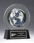 Glass Clock with World Dial Achievement Awards