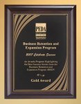 Cherry Finish Wood Plaque with Brass Plate Achievement Awards