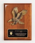 Walnut Piano Finish Eagle Plaque Achievement Awards