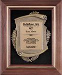 Genuine Walnut  Frame with Metal Casting on Black Velour Achievement Awards