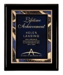 Black Piano Finish Plaque Award Achievement Awards