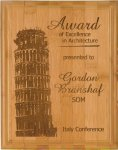 Bamboo Recognition Plaque Achievement Awards