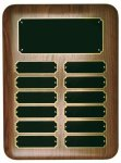 Elliptical Walnut Perpetual Plaque Achievement Awards