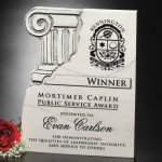 Chiseled Column Plaque Achievement Awards