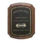 Notched Corner Plaque Achievement Awards