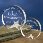 Freestanding Crystal Achievement Awards