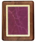 Walnut Plaque with Burgundy Marble Plate Achievement Awards