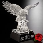 Majestic Eagle Black Glass Awards