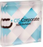 Full Color Acrylic Square Paperweight Boss Gift Awards