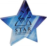 Full Color Star Acrylic Paperweight Boss Gift Awards