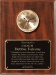 Cherry Finish Clock Plaque Boss Gift Awards