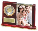 Wood and Glass Photo Clock Boss Gift Awards