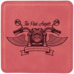 Leatherette Square Coaster -Pink Boss Gift Awards