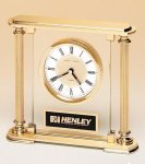 Traditionally Styled Desk Clock Clear Glass Awards