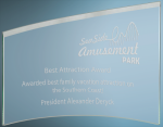 Slanted Glass Crescent Clear Glass Awards