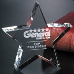 Tapered Star Crystal Glass Awards