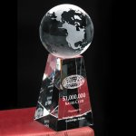 Tapered Globe Crystal Glass Awards
