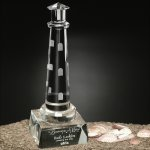 Spirit Rock Lighthouse Crystal Glass Awards