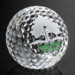 Clipped Golf Ball Crystal Glass Awards