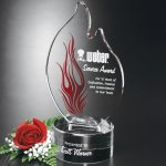 Wildfire Flame Crystal Glass Awards