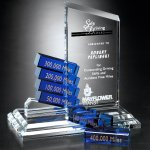 Peak Goal-Setter Crystal Glass Awards