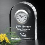 Rutledge Clock Crystal Glass Awards