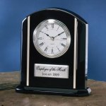Black Piano Finish Wood Desk Clocks