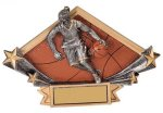 Diamond Plate Resin -Basketball Female Diamond Plate Resin Trophy Awards