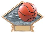 Diamond Plate Resin -Basketball Diamond Plate Resin Trophy Awards
