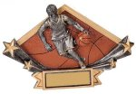 Diamond Plate Resin -Basketball Male Diamond Plate Resin Trophy Awards