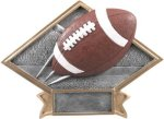 Diamond Plate Resin -Football Diamond Plate Resin Trophy Awards