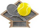 Diamond Plate Resin -Tennis Diamond Plate Resin Trophy Awards