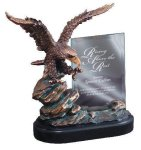 Eagle On Rock With Glass Eagle Resin Trophy Awards