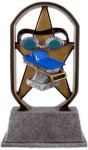 Ecostarz Line -Swimming Ecostarz Resin Trophy Awards