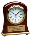 Rosewood Piano Finish Bell Shaped Clock Employee Awards