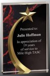 Red Marble Shooting Star Acrylic Employee Awards