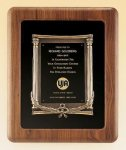 American Walnut Frame with Antique Bronze Casting Employee Awards