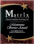 Red Marble Shooting Star Acrylic Award Recognition Plaque Employee Awards