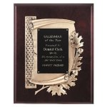 Antique Bronze Oak Leaf Plaque Employee Awards