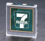 Emerald Marble Square Acrylic Paper Weight Executive Gift Awards