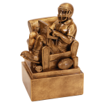 Fantasy Football Man in Chair Resin Fantasy Football