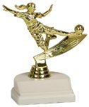 Action Trophy -Soccer Female Figure on a Base Trophies