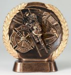 Resin Plate -Fireman Fire and Safety Awards