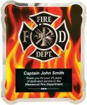 Firefighter Vertical Flames Hero Plaque Fire and Safety Awards