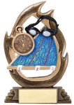 Flame Series -Swimming Flame Resin Trophy Awards